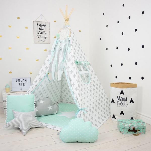 Mint Breeze Children's Teepee Tent