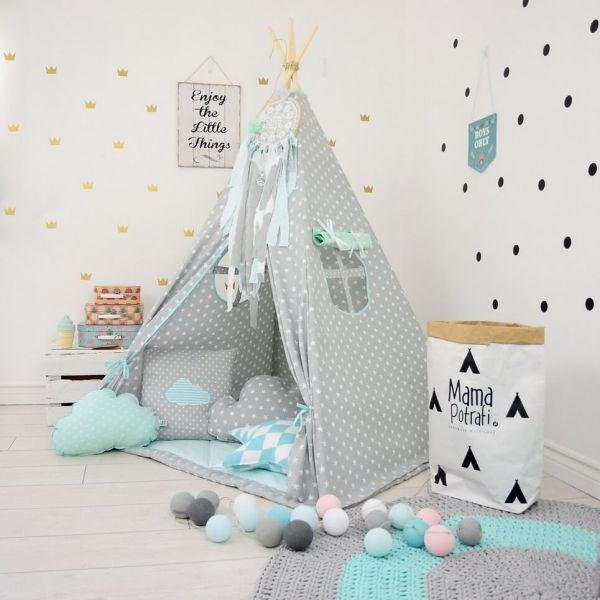 Minty Memories Children's Teepee Tent