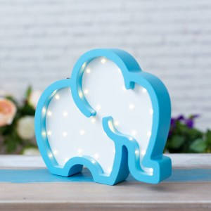 With a charming design, the Elephant Wooden Night Light provides a reassuring glow for your little one, making it perfect for a nursery or kids room nightlight, or an interesting addition to any other space.