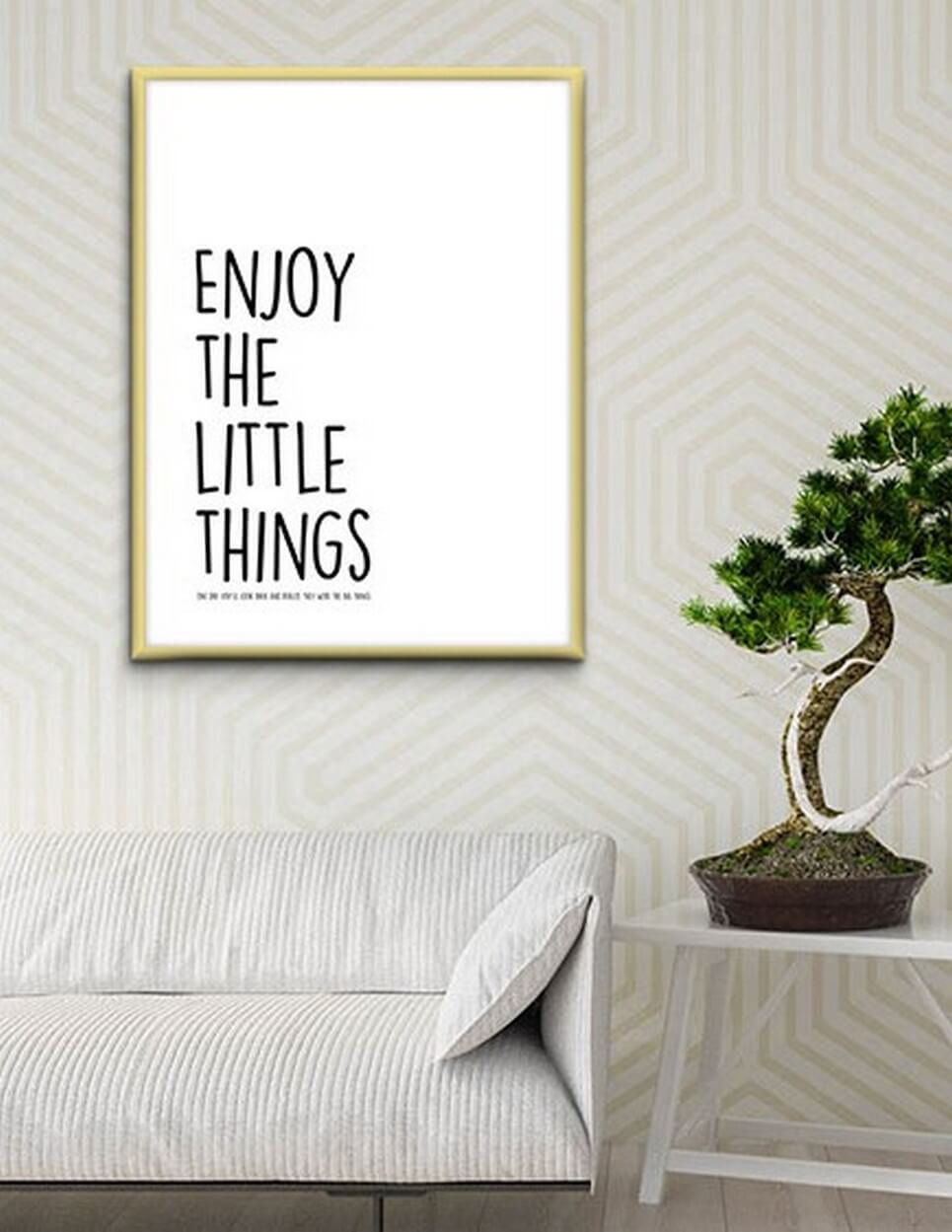 Home Wall Poster – Enjoy The Little Things