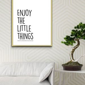 Perfect for any room in the home, the Home Wall Poster - Enjoy The Little Things is a great piece of daily inspiration for your walls.