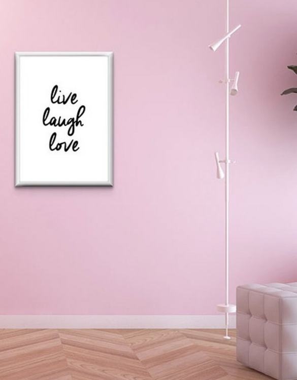 Perfect for any room in the home, the Home Wall Poster - Live Laugh Love is a great piece of daily inspiration for your walls.
