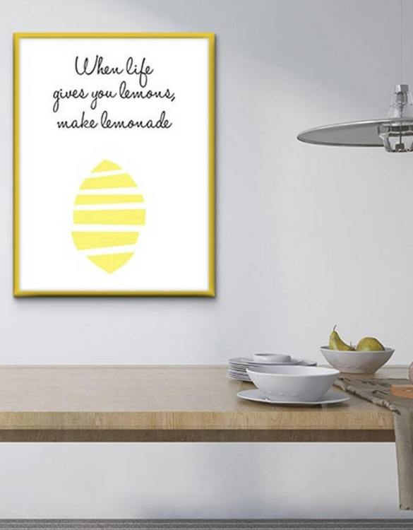 Perfect for any room in the home, the Home Wall Poster - When Life Gives You Lemons is a great piece of daily inspiration for your walls.