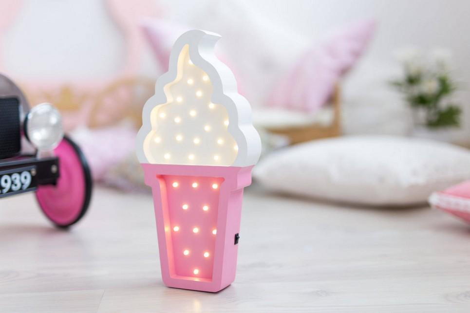 Ice Creme Wooden Night Light – Rose