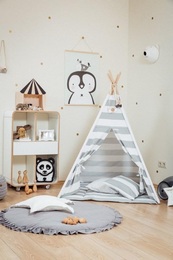 Grey Stripes Children's Teepee Set_2