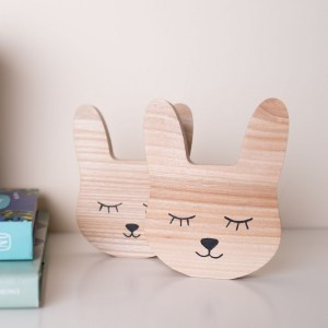 Shake up baby's playtime with the Rabbit Wood Toy, created especially for clutching hands and curious mind.