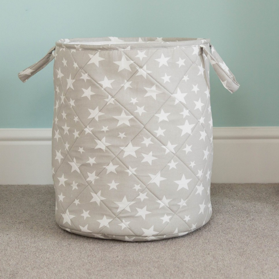 Grey Star Children S Laundry Basket Children S Laundry Baskets By A Matter Of Style