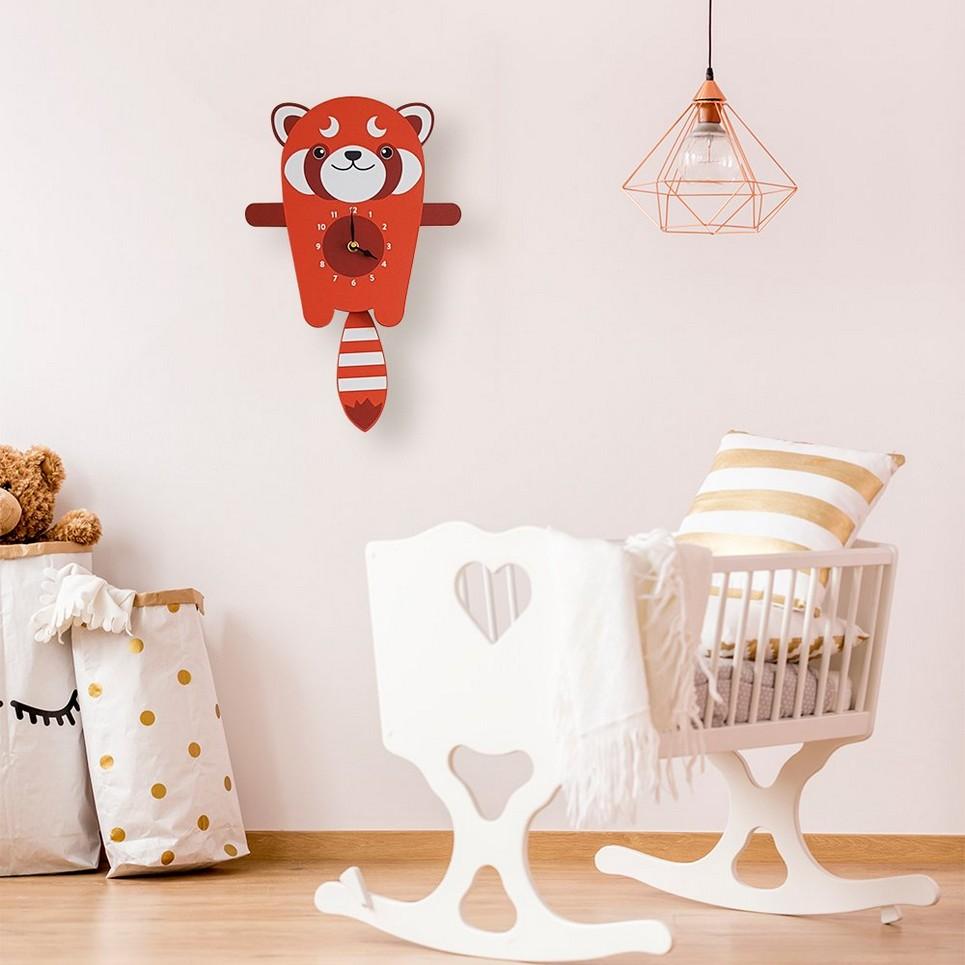 Roxy The Red Panda Pendulum Wall Clock