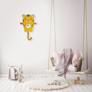 A great gift and a lovely addition to any nursery or bedroom, the Tilly The Tiger Pendulum Wall Clock is a great way of helping children learn to tell the time whilst offering a stunning wall decoration.