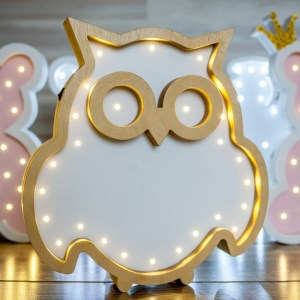 Perfect for setting a calm moon in your kid's bedroom, the Owl Decorative Night Light gives a soft glow when turned on.
