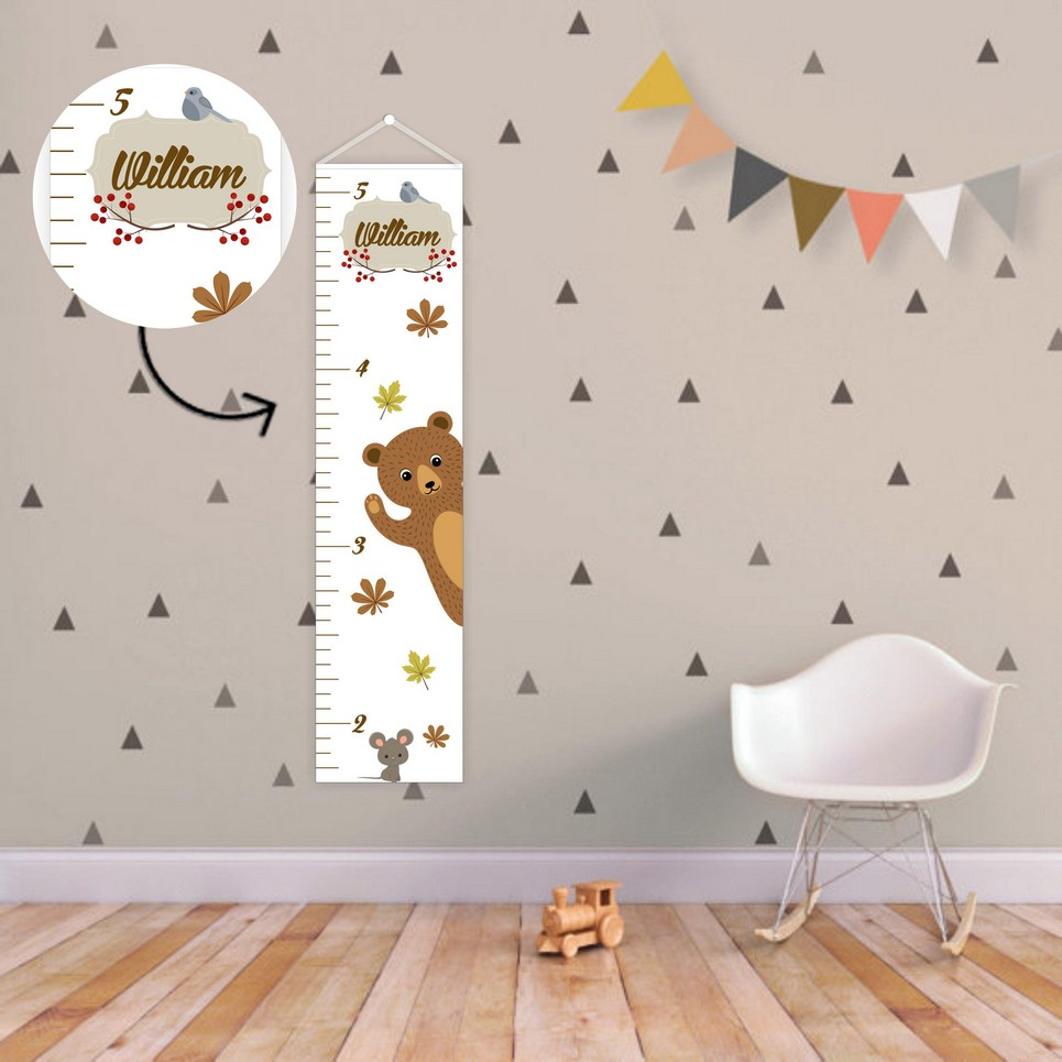 Forest Animals Personalised Baby Growth Chart