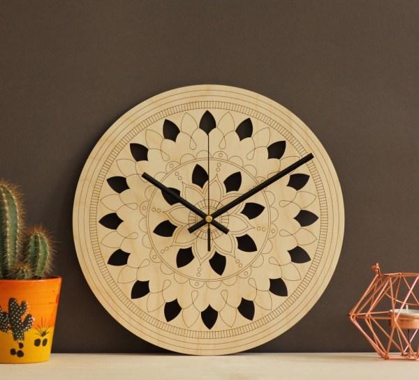 Mandala Art Wooden Wall Clock – 4