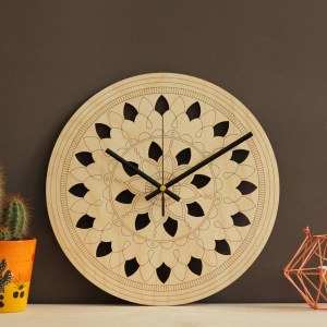 With a sophisticated and functional look, the Mandala Art Wooden Wall Clock will add an element of starry spirit to any room.