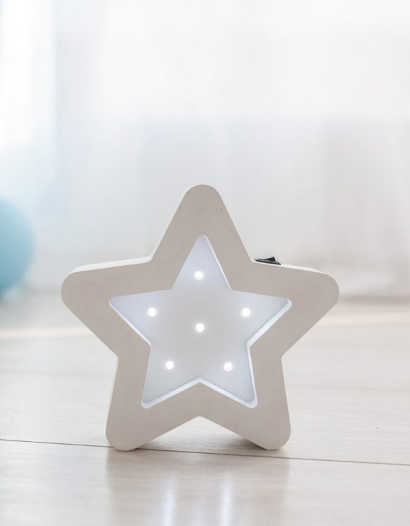 Perfect for setting a calm moon in your kid's bedroom, the Mini Star Decorative Night Light gives a soft glow when turned on.