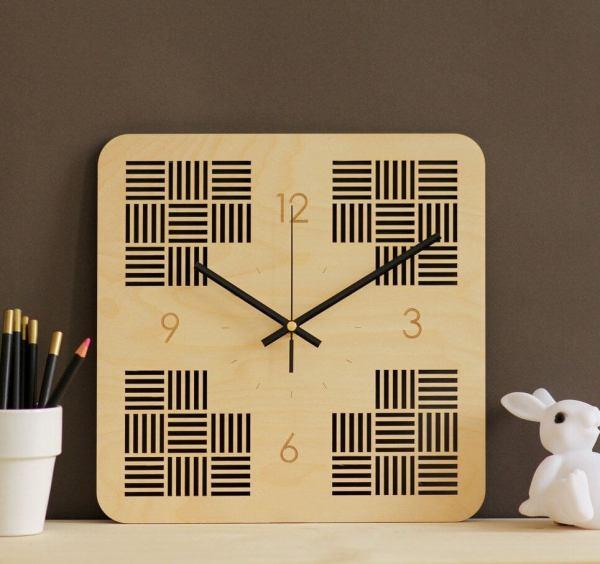 Minimalist Wooden Wall Clock – 6