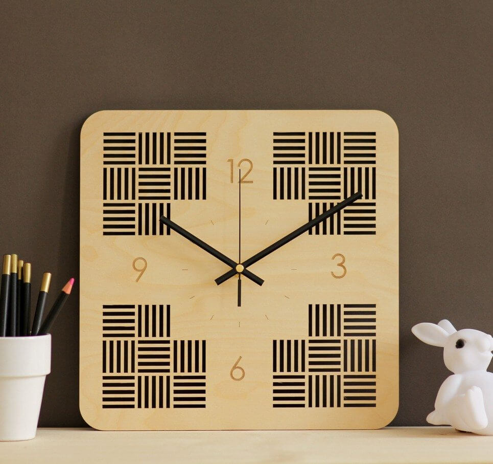Minimalist Wooden Wall Clock – 6
