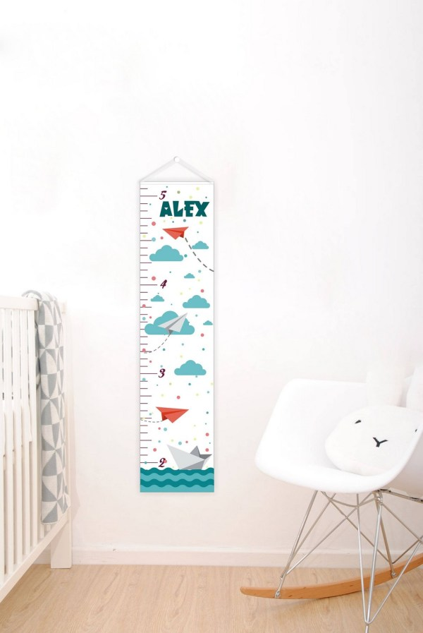 Nautical Personalised Baby Growth Chart