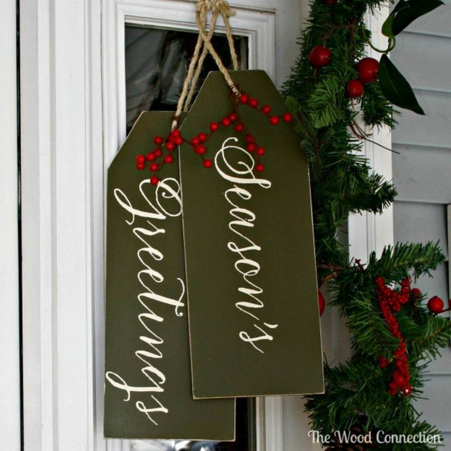These out-of-the-box DIY door decorations will brighten up your front porch and help spread the Christmas cheer this holiday season.