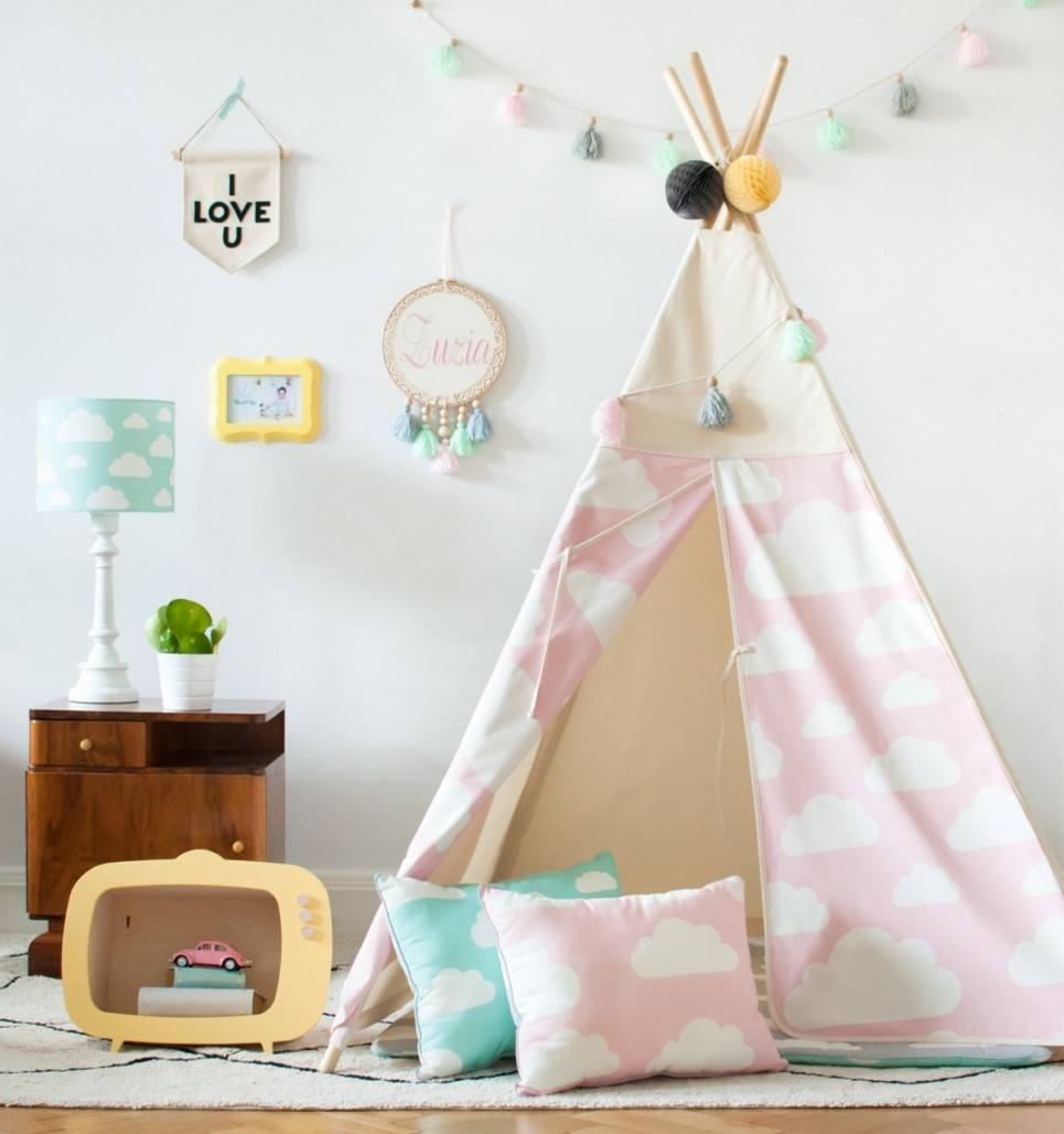 Pink Clouds Children's Teepee – 3