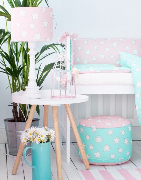 Give your little one's room the 'wow' factor with the Pink & Mint Stars Children's Bedding Set. A reversible single duvet cover that makes every bedtime adventure children can't wait to begin.