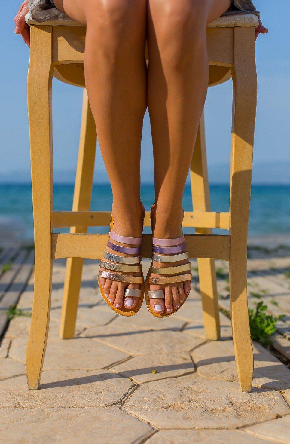 Iris Greek Leather Sandal