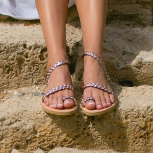 Just what every summer wardrobe needs, the Alcestis Greek Leather Sandal is every woman's dream pair, super comfy and elegant, and easily combined with any outfit.