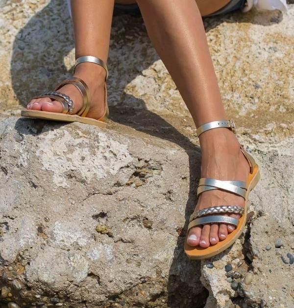 Andromeda Braid Greek Leather Sandal – 5