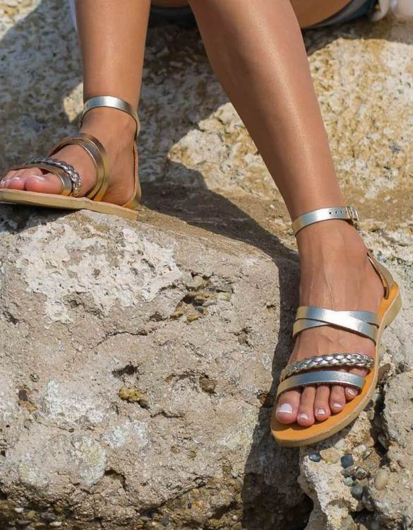 Just what every summer wardrobe needs, the Andromeda Braid Greek Leather Sandal is every woman's dream pair, super comfy and elegant, and easily combined with any outfit.