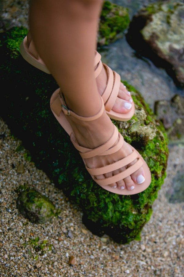 Andromeda Greek Leather Sandal