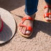 Just what every summer wardrobe needs, the Aries Coral Red Greek Leather Sandal is every woman's dream pair, super comfy and elegant, and easily combined with any outfit.
