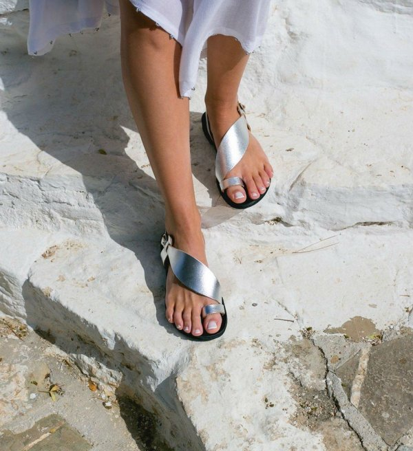 Daphne Greek Leather Sandal – 3