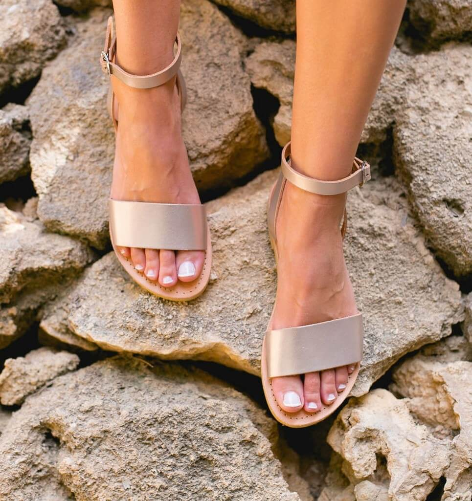 Erato Greek Leather Sandal – 5