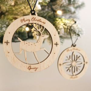 A family treasure to be displayed year after year, the Reindeer Christmas Bauble makes a thoughtful gift and adds a personal touch to any Christmas tree to celebrate Baby's First Christmas.