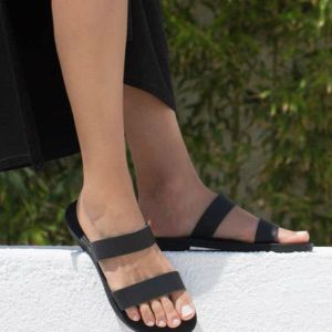 Just what every summer wardrobe needs, the Xanthe Black Greek Leather Sandal is every woman's dream pair, super comfy and elegant, and easily combined with any outfit.