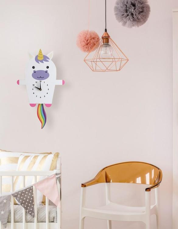 A great gift and a lovely addition to any nursery or bedroom, the Umi The Unicorn Pendulum Wall Clock is a great way of helping children learn to tell the time whilst offering a stunning wall decoration.