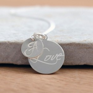 A beautiful classic, the Personalised Initial Love Necklace is a delightful mix of classic and modern to make the perfect gift for a special lady on any occasion.