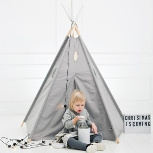 A perfect hideaway for tiny people, the Grey Children's Play Teepee gives your little one the space they need to let their imagination flow.