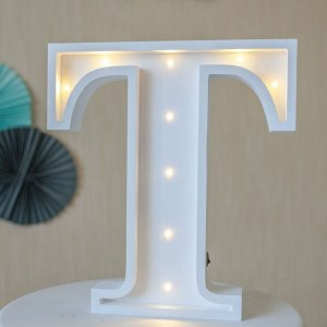 Certain to be a favourite in any family home the Letter T Marquee Light Sign creates a talking point which catches attention and expresses your passion for stand out design. Perfect for anyone who enjoys something a little different.