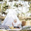 A perfect hideaway for tiny people, the White Sky Children's Play Teepee gives your little one the space they need to let their imagination flow.