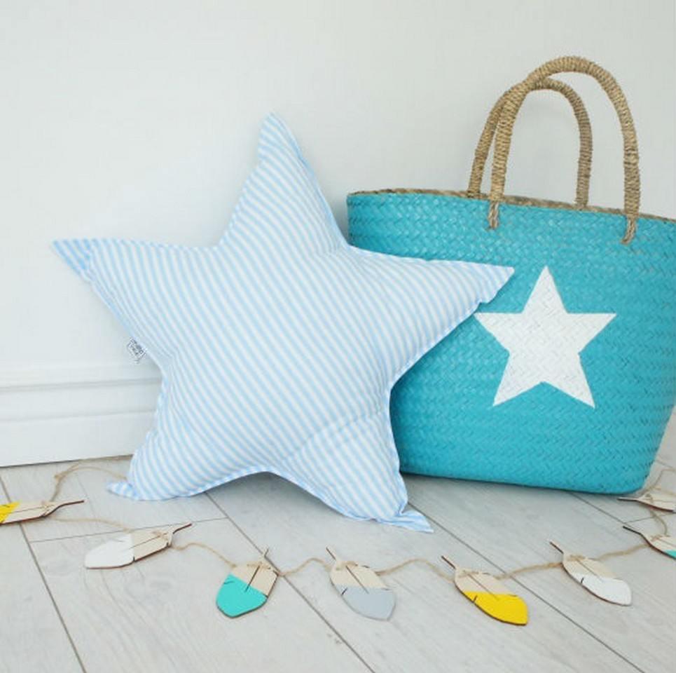 Big Blue Star Decorative Pillow – 4