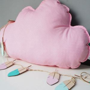 A perfect way to add a touch of magic to a bedroom or nursery, the Big Pink Cloud Decorative Pillow would make a wonderful gift for a new baby girl, christening, or naming day and would be the perfect finishing touch for a child's nursery or bedroom.