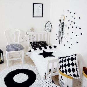 Add fun and style to your little one's bedroom with the Black and White Days Baby Crib Bedding Set. This charming children's bedding set is a great choice for a contemporary themed nursery or children's room.