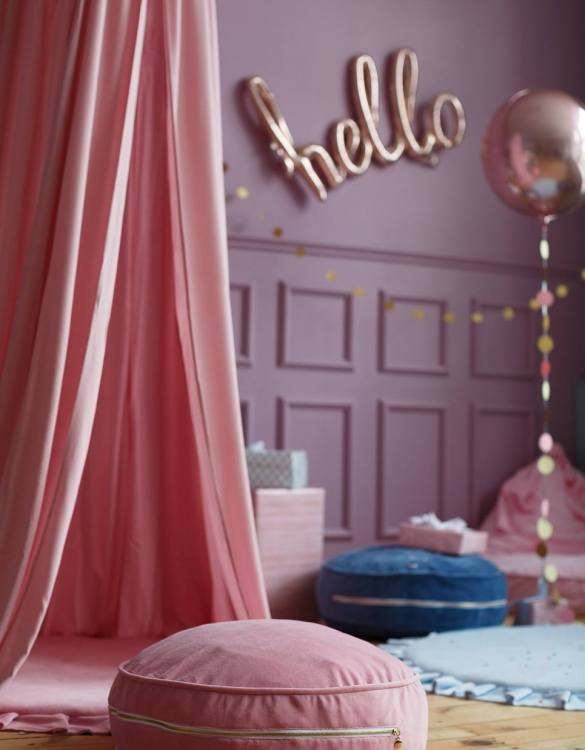 Great to have in a teenager's den, children's playroom or chill out zone, the Pink Velvet Soft Children's Ottoman is wonderfully cute, cosy and a great centerpiece to any room.