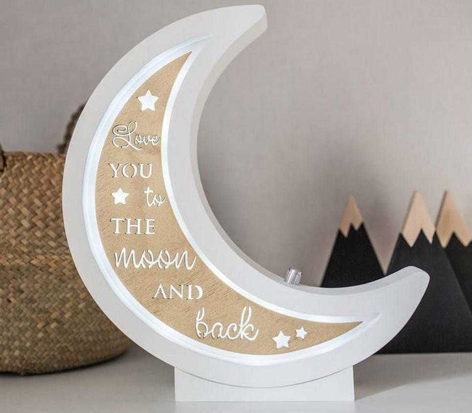 Half Moon Decorative Wood Night Light – 7