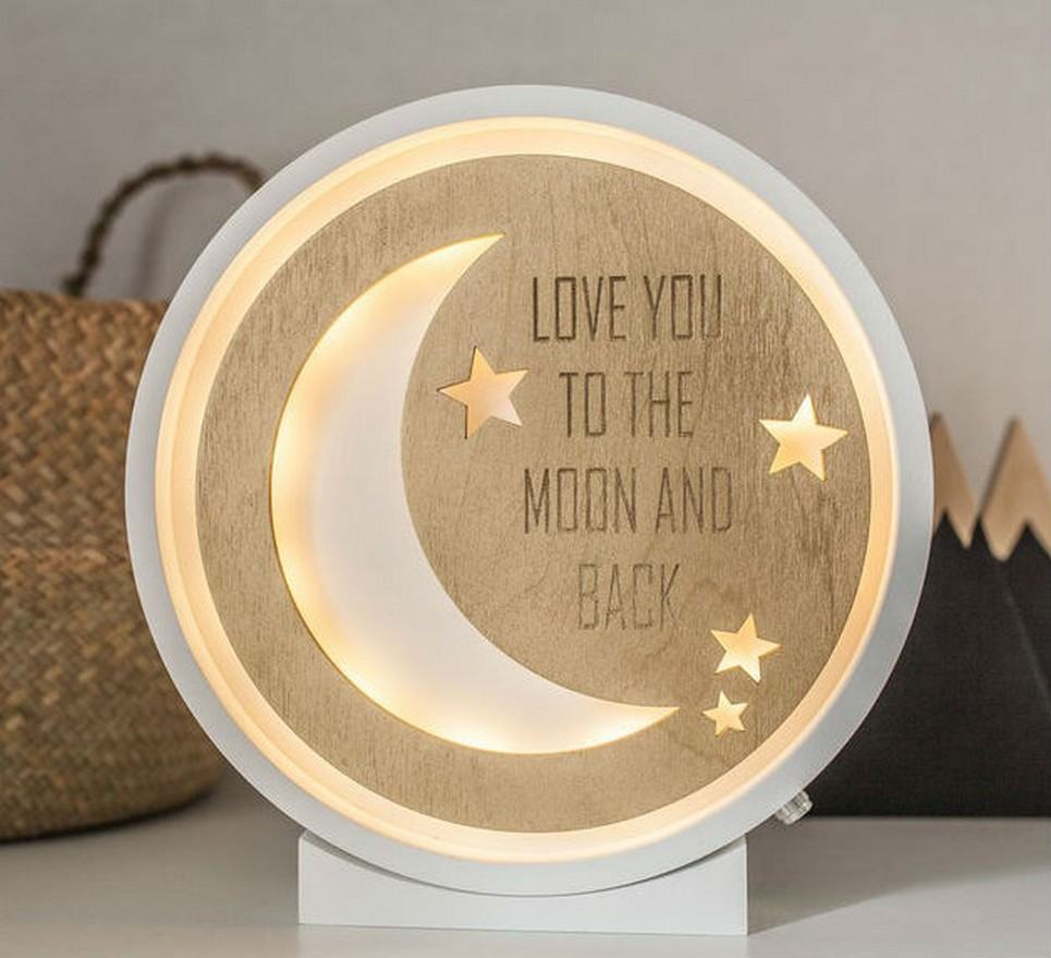 Moon Decorative Wood Night Light – 8