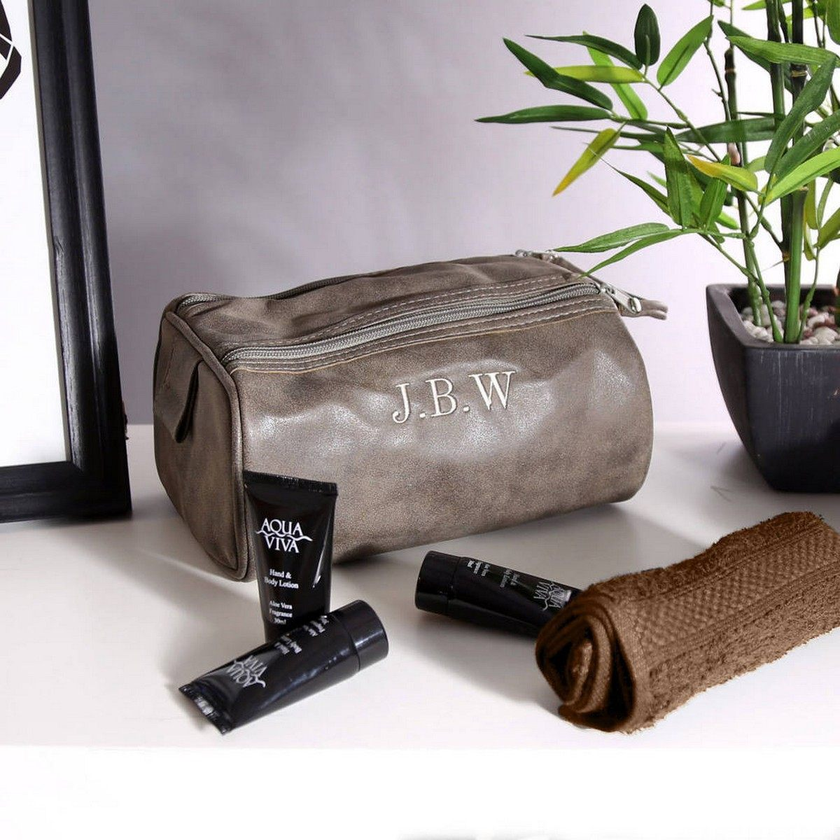 Separate toiletry bags are a simple way to keep your essentials easy to access, and they make packing (and then re-packing at the end of your trip) a lot less painful.
