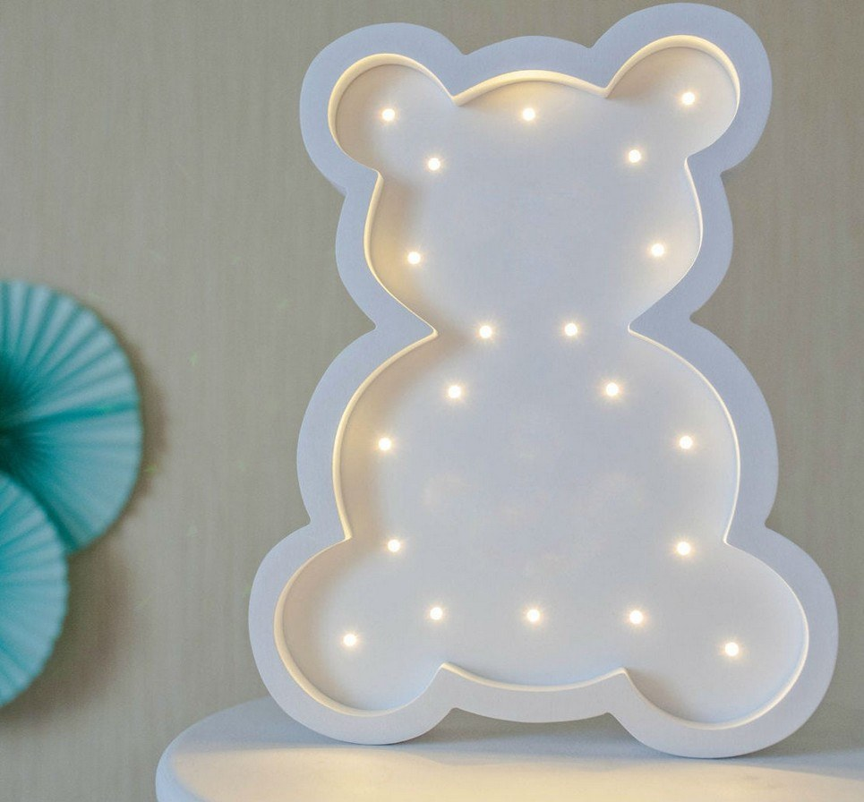 White Teddy Bear Decorative Night Light – 2