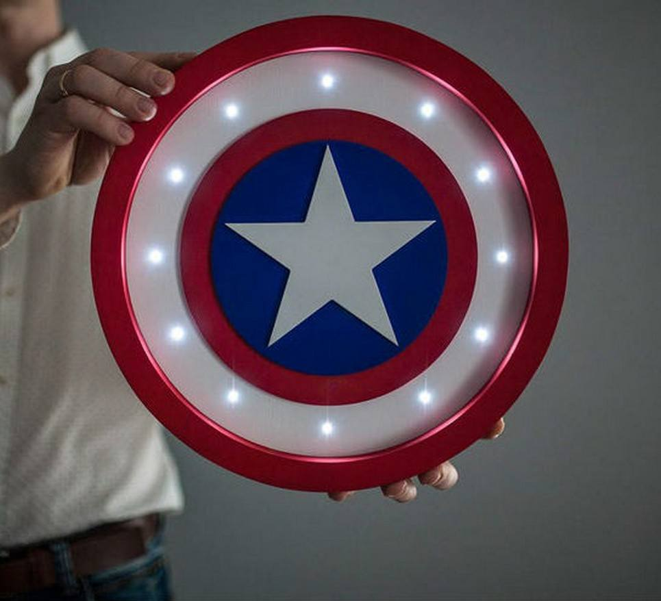 Captain America Shield Night Light – 6