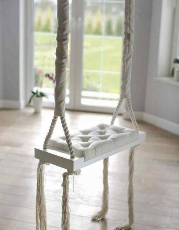 Whether you want it to take you to the moon or simply be a fun place to hang out, the Wooden Swing Vintage Cream Velvet offers great fun for toddlers. Every child loves to play on a toddler swing. This unique toddler wooden swing is beautifully handsaw and an absolute classic. This wooden swing set would also make a lovely gift and is ideal for smaller gardens.