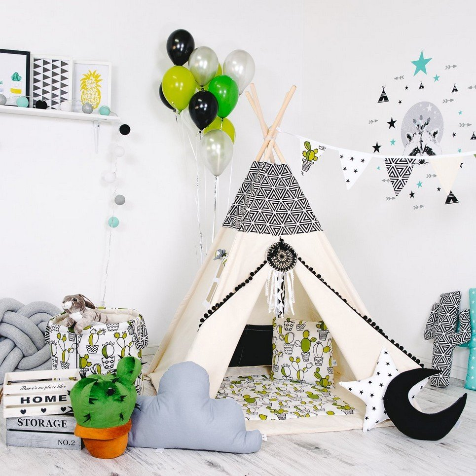 Child's Teepee Set Mexican Fun